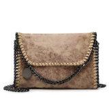 Mode de conception de la chaîne de sacs en cuir de PU Mesdames les embrayages de l'épaule