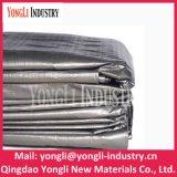 Bâche de protection de tissu tissée par PE UV durable d'argent d'enduit