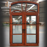 Finestra di alluminio incurvata della rottura termica con il rivestimento di legno di quercia