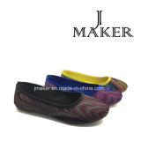 Más caliente estilo de zapato Monopatín de la señora con inyección de PVC (JM2021-L)