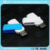 Vara azul plástica do USB do giro 4GB do projeto novo (ZYF1285)