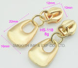 Il metallo di modo scava fuori il hardware degli accessori dell'indumento della trasparenza del tenditore della chiusura lampo