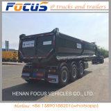 U-Form 35m3 hydraulischer halb Massenkipper-LKW-Schlussteil-Kipper für Verkauf
