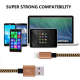 для молнии iPhone зарядный кабель заплел Nylon шнур к кабелю обязанности USB