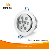 9W Aluminum+Glass LED Downlight met Ce