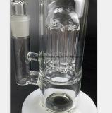 Weißer Glaswasser-Rohr-Rauch-transparentes Filter-Rauch-Rohr