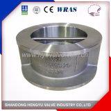 Válvula de verificação do disco do dobro do aço inoxidável com mola