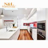 [ن] & [ل] بيضاء مطبخ خزانة مع يرقّق لوح هيكل