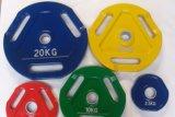 La pintura de aerosol Barbell pesa, peso, peso Olmpic placa, la pintura de peso, productos de club, gimnasio, equipos de gimnasia (USH-201).