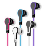 Color executando in-ear Populor fone de ouvido com microfone de alta Bass