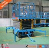 Levage hydraulique mobile de ciseaux de plate-forme de fonctionnement de la CE