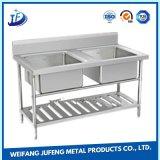 Metal de folha pressionado molde do ferro que carimba o dissipador de cozinha da bacia do dobro do aço inoxidável