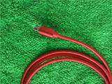 Cavo di dati di alluminio di sincronizzazione del caricatore del USB del micro di colore rosso per Andrews