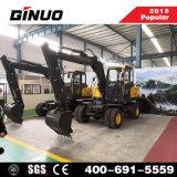 China 2018 Mejores Ventas Excavadora de ruedas de 8 ton.