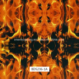 Impression de Hydrographics de configuration de flamme, impression de transfert de l'eau, films liquides de l'image PVA pour les postes extérieurs et canons (BDS236-1A)