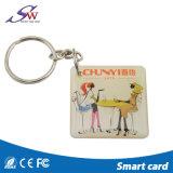 防水Hf 125kHz受動RFIDの札Em4100 Keychains