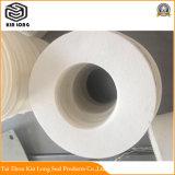A junta de fibra cerâmica com alta resistência, de tamanho exato; efeito de isolamento à prova de fogo, pode contactar directamente com o fogo.