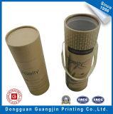 Caja de papel cilíndrica del té