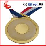 Nuovo medaglia placcata di stile metallo su ordine con il nastro