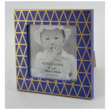 Home DecorationのためのGolden Lineの青いFrame