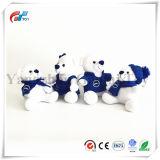 Het mooie Wit draagt Mannelijke & Vrouwelijke Kerstmis van de Teddybeer draagt Stuk speelgoed met de Druk van de Sneeuw van de Sjaal