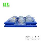 Piscina inflable con las bolas que recorren del agua