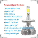 Hot Sale C6 Lentille de Projecteur à LED Projecteur LED phares H1 H3 H7 H11 H4 9006 9005, super LED lumineux ampoule de phare H7
