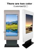 65inch impermeabilizan el LCD a todo color al aire libre que hace publicidad de la visualización