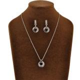 Conjunto artificial del collar del pendiente de la manera de los accesorios pendientes redondos de la joyería