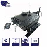 video móvil de Digitaces del vehículo 8-CH con un disco duro 3G incorporado, módulos del GPS para la flota de vehículo
