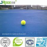 Il tennis duraturo mette in mostra la corte di tennis esterna del rivestimento per pavimenti