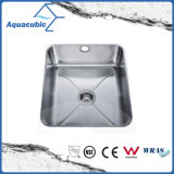 Undermount Fregadero de acero inoxidable satinado (AEC5446)