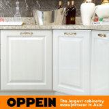 Современные Oppein E0 белого цвета ПВХ-L-оптовых деревянные кухонные шкафы (OP15-054)