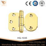 둥근 구석 (HG-1015)를 가진 편평한 헤드 2bb 금관 악기 가구 경첩