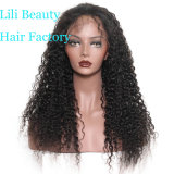 Lili Salão 180% de densidade Full Lace Peruca com bebé onda profunda de cabelo preto Pré Brasileira Depenados Cabelo humano Perucas para Mulheres