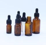 5-30ml de amberFles van het Glas voor Schoonheidsmiddel met de Deksels van het Druppelbuisje