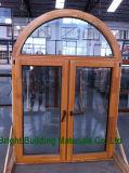 Ventana de apertura del oscilación de 180 grados con las persianas