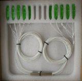 1*8 Sc/APC Mini PLC de fibra óptica acoplador con el tubo de acero