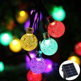 Décoration solaire de rue de jardin de fête de Noël de lampe de chaîne de caractères de lanterne de la lumière DEL