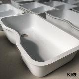 Gootsteen van Undermount van de Keuken van de Steen van de Oppervlakte van het Keukengerei van Kingkonree de Zwarte Dubbele Stevige