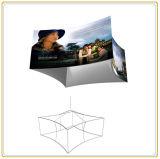 Ый квадратом стеллаж для выставки товаров знака с графиком ткани