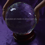 """Grande 12.6 """" sfere di cristallo sfaccettate libere enorme"""