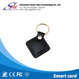 Trousseau de clés en cuir fait sur commande d'IDENTIFICATION RF avec la puce T5577