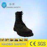 Мужчин военных ботинок нескользким покрытием и поручнями из натуральной кожи рабочая обувь