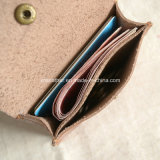 Button를 가진 최상 Calf Leather Slim Credit Card Holder