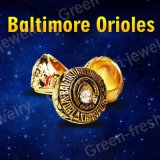 Комплекты кольца сбываний фабрики с кольцом чемпионата Балтимор Ориолс высокого качества 2PCS/Packs меди бейсбола реплики деревянных коробок
