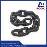 黒い緩和された合金鋼鉄G80持ち上がる鎖