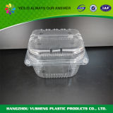 Квадратный ясный пластичный контейнер еды
