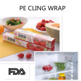 Peinture en plastique PE en plastique Cling Film alimentaire Soft Transparent Cling Film
