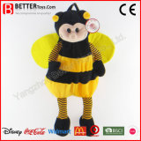 Sac à dos mou d'abeille de peluche de jouet de la peluche En71 pour des gosses